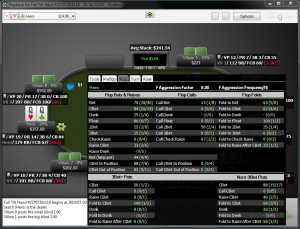 PokerTracker HUD papildomi pop up